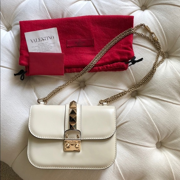 7dbdb10fc Valentino Bags | Glam Lock Small Bag In Ivory | Poshmark